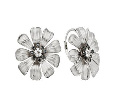 EDY_110467 Black Diamond Earrings